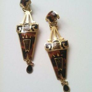 Vintage Edgar Berebi Earrings Art Deco Egyptian